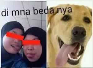cewek jilbab selfie julurin lidah